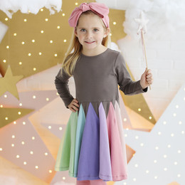 Lemon Loves Lime   Pastel Crayon Twirl Dress - Iron