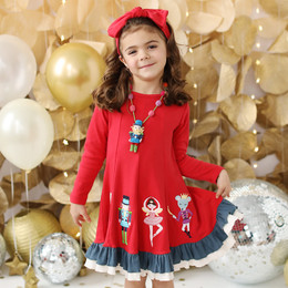 Lemon Loves Lime   Nutcracker Ballet Dress - True Red