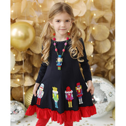 Lemon Loves Lime   Sparkling Nutcracker Dress - Sky Captain