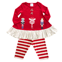 Lemon Loves Lime   Sugar Plum 2pc Fairy Dress Set - True Red