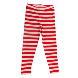 Lemon Loves Lime   Striped Legging - True Red / Eggnog