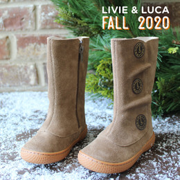 Livie & Luca Tiempo Boots - Taupe (Fall 2020)
