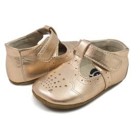 Livie & Luca   Cora III Baby Shoes - Rosegold Metallic (Fall 2020)