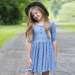 Be Girl Clothing     Playtime Favorites Henley Twirler Dress - Star Light