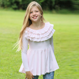 Be Girl Clothing     Playtime Favorites Sweet Comfort Tunic - Pink Stripes