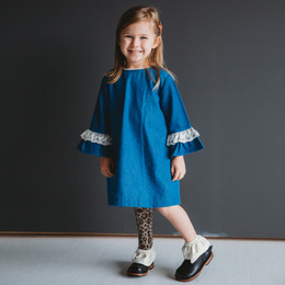 Ren & Rouge Denim Lace Dress