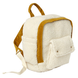 Rylee & Cru   Enchanted Forest Mini Backpack - Sherpa & Corduroy - Natural / Goldenrod (Drop 1)