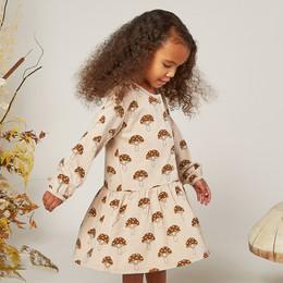 Rylee & Cru   Enchanted Forest Button Up Dress - Mushrooms - Oat (Drop 1)