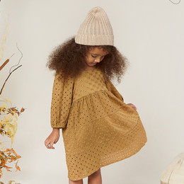 Rylee & Cru   Enchanted Forest Gretta Babydoll Dress - Goldenrod (Drop 1)
