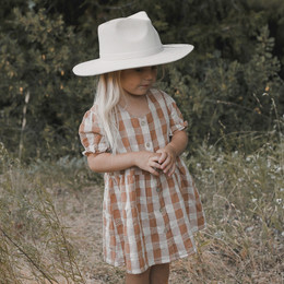 Rylee & Cru   Enchanted Forest Jeanette Dress - Cinnamon Check (Drop 1)