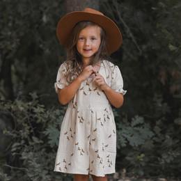 Rylee & Cru   Enchanted Forest Jeannette Dress - Horses - Natural (Drop 1)