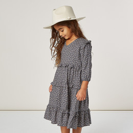Rylee & Cru   Enchanted Forest Mabel Dress - Indigo Ditsy (Drop 1)