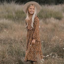Rylee & Cru   Enchanted Forest Mabel Dress - Cinnamon Ditsy (Drop 1)