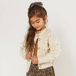 Rylee & Cru   Enchanted Forest Bobble Cardigan Sweater - Natural (Drop 1)