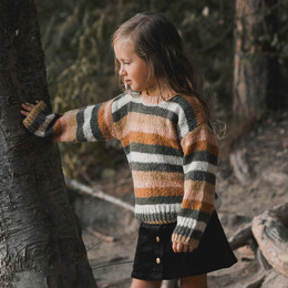 Rylee & Cru   Enchanted Forest Aspen Sweater - Multi Stripe (Drop 1)