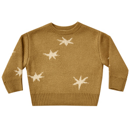 Rylee & Cru   Enchanted Forest Knit Pullover Sweater - Stars - Goldenrod (Drop 1)