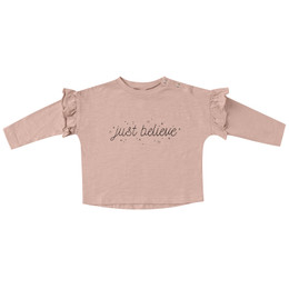 Rylee & Cru   Enchanted Forest Ruffle Tee - Just Believe - Rose (Drop 1)