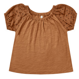 Rylee & Cru   Enchanted Forest Puff Sleeve Tee - Cinnamon (Drop 1)