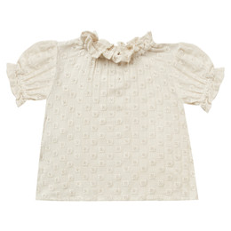 Rylee & Cru   Enchanted Forest Stella Blouse - Natural Eyelet (Drop 1)