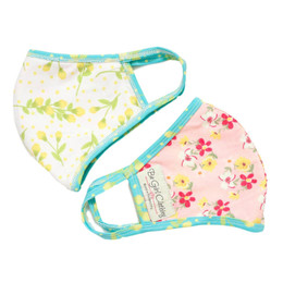 Be Girl Clothing      Double Layer Reversible Face Mask - Pink Flowers & Yellow Flowers