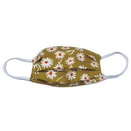 Haute Baby Double Layer Pleated Cotton Face Mask - Daisies