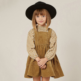 Rylee & Cru     Enchanted Forest Corduroy Pinafore Dress - Goldenrod (Drop 2)