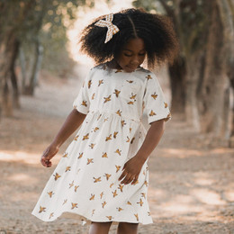 Rylee & Cru     Enchanted Forest Kat Dress - Songbirds - Ivory (Drop 2)