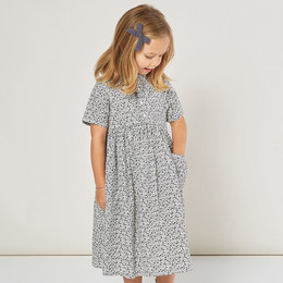 Rylee & Cru     Enchanted Forest Esme Dress - Flower Field - Indigo Ditsy (Drop 2)