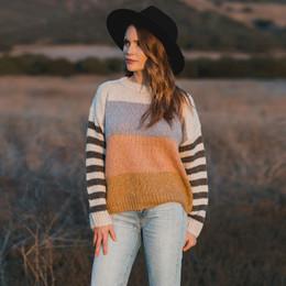 Rylee & Cru     Enchanted Forest Aspen Sweater - Tween/Women's - Multi Stripe (Drop 2)