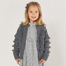 Rylee & Cru     Enchanted Forest Bobble Cardigan Sweater - Washed Indigo (Drop 2)