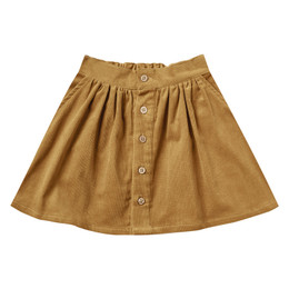Rylee & Cru     Enchanted Forest Button Front Mini Skirt - Goldenrod (Drop 2)
