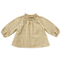 Rylee & Cru     Enchanted Forest Audrey Blouse - Gingham - Goldenrod (Drop 2)