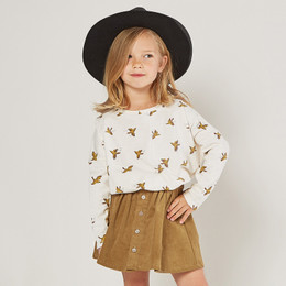 Rylee & Cru     Enchanted Forest  Boxy Tee - Songbirds - Ivory (Drop 2)