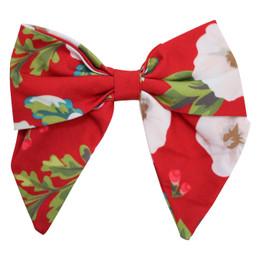 Be Girl Clothing       Holiday Classic Bow - Cranberry Floral