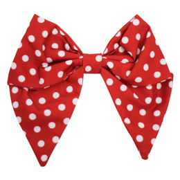 Be Girl Clothing       Holiday Classic Bow - Cranberry Dot