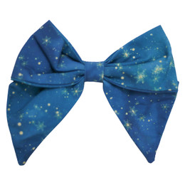 Be Girl Clothing       Holiday Classic Bow - Peacock Stars