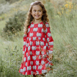 Pink Chicken    Sheila Dress - Tango Red Sheep