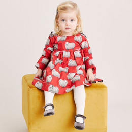 Pink Chicken    Sheila 2pc Dress Set  - Tango Red Sheep