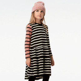Molo   Chia Organic Knit Dress - Black Stripe