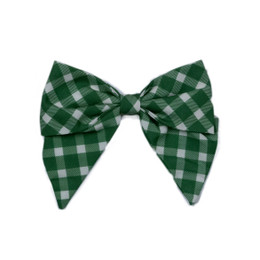 Be Girl Clothing       Holiday Classic Bow - Evergreen Plaid
