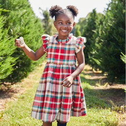 Pink Chicken     Jennifer Dress - Holiday Tartan