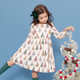 Pink Chicken     Sheila Dress - Multi Christmas Trees