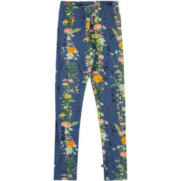 Molo    Niki Organic Leggings - Vertical Flowers