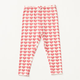 Pink Chicken   Valentine Heart Organic Legging - Rapture Rose Hearts