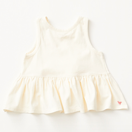 Pink Chicken   Valentine Joy Organic Top - Antique White