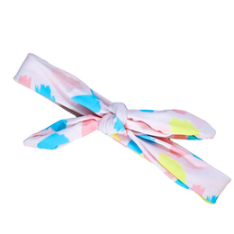 Blueberry Bay Swim Headwrap - Pastel Paint Splash