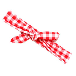 Blueberry Bay Swim Headwrap - Red Check