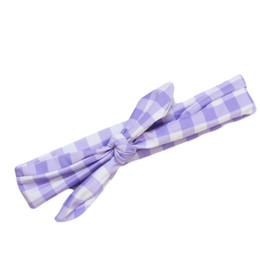 Blueberry Bay Swim Headwrap - Lavender Gingham