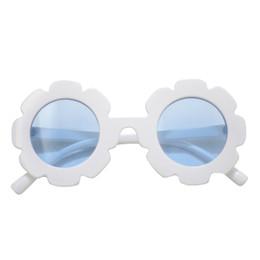Blueberry Bay Flower Sunnies Sunglasses - White