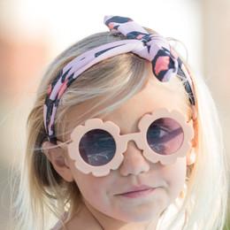 Blueberry Bay Flower Sunnies Sunglasses - Blush